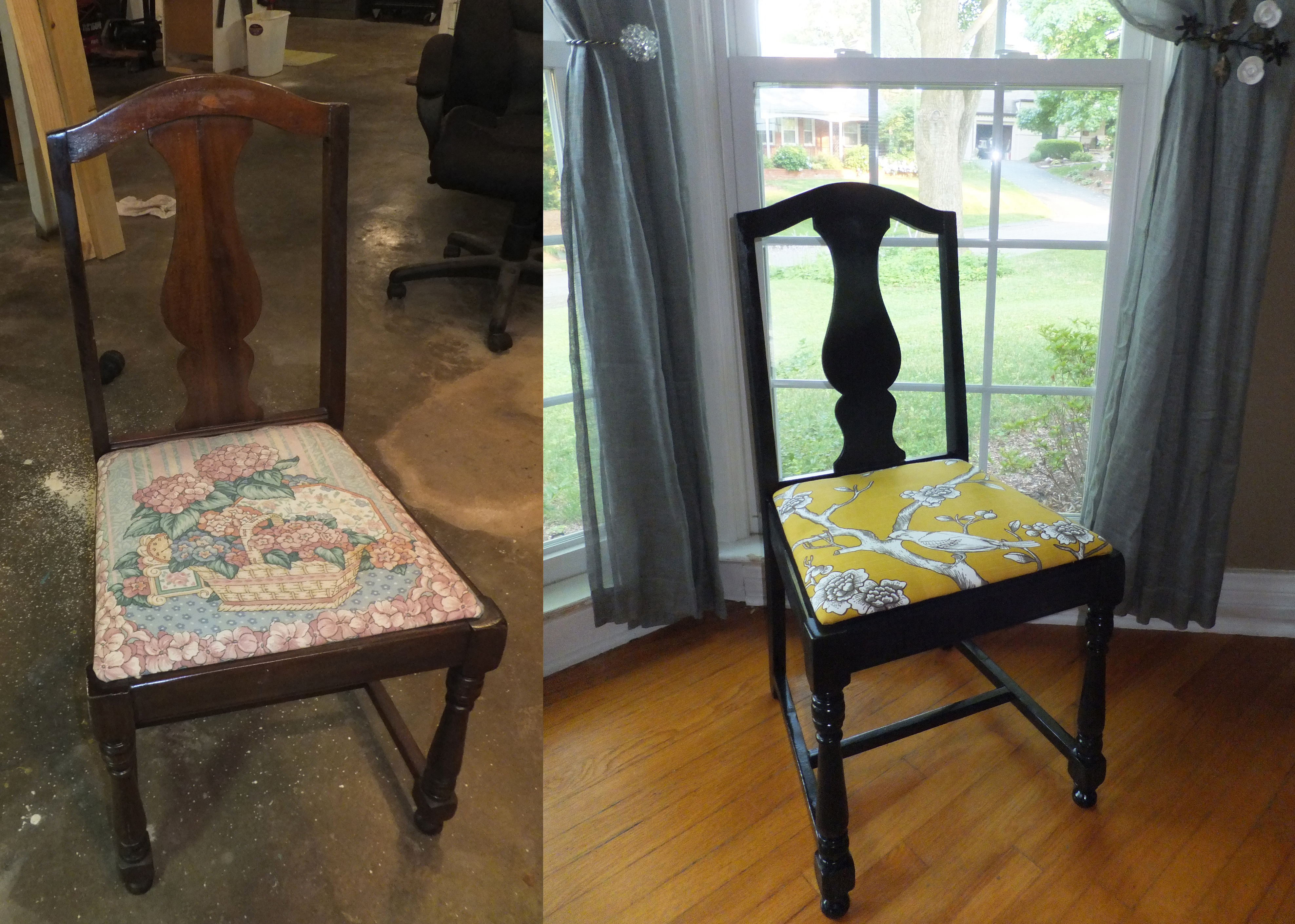 Antique Chair + Dwell Studio Fabric = Perfection - Power ...